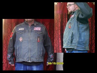 Denim jacket panel after