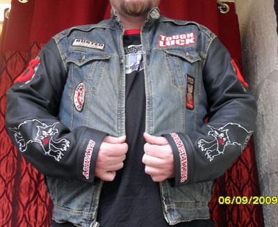 Before denim jacket side panel