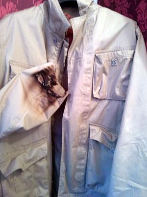 before jacket sleeve repair