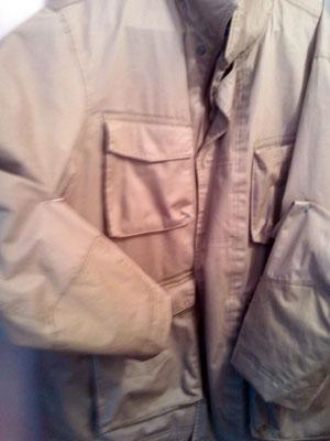 After jacket sleeve repair