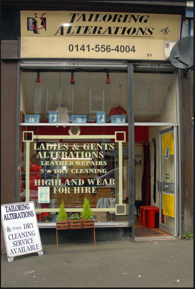 Tailoring Alterations Shop Front