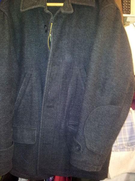 clothing repair burnt coat after repair