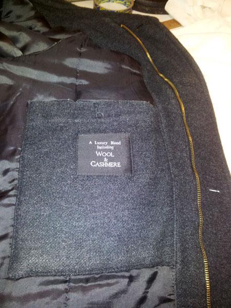 clothing repair burnt coat before