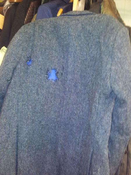 Clothing repair torn jacket - before repair