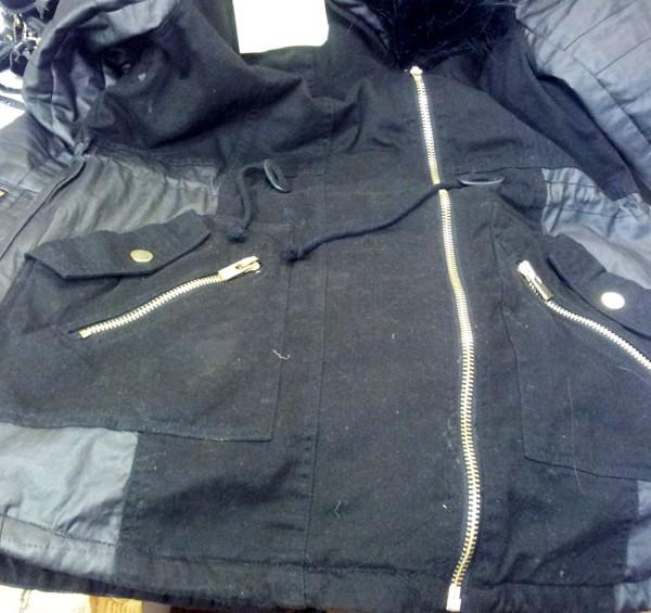 leather repair torn jacket - after repair