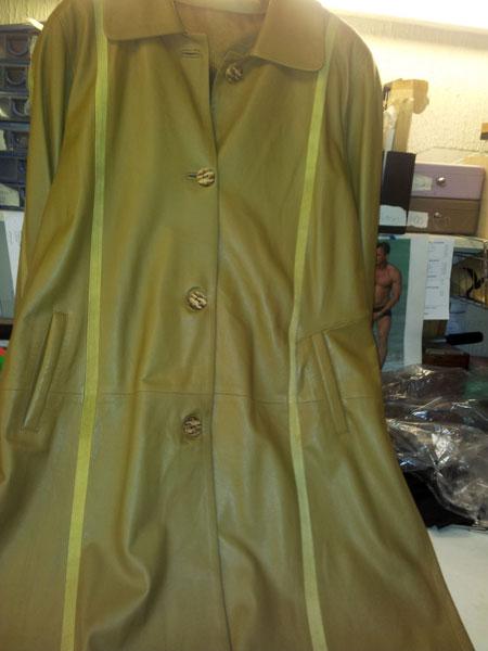 leather repair torn jacket before